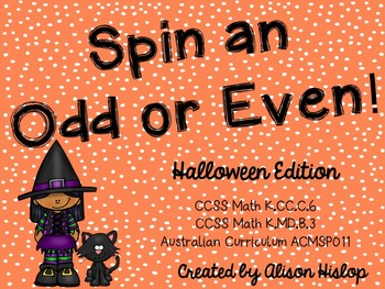 Spin an Odd or Even Number - Halloween Freebie!