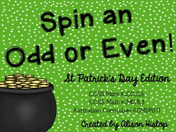 Spin an Odd or Even Number - St Patrick's Day Freebie!