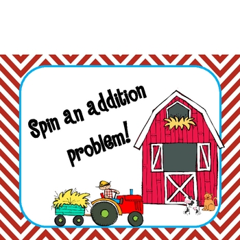 Spin an addition problem on the farm!