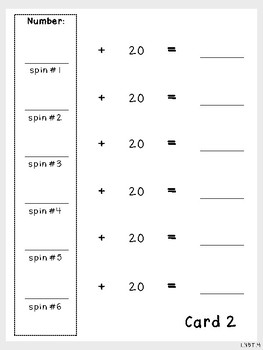 Spin and Add Multiples of 10-Student Mats (First Grade, 1.NBT.4)