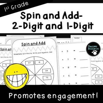 Spin and Add-Student Mats (First Grade, 1.NBT.4)