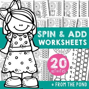 Addition Worksheets - Spin, Add and Record
