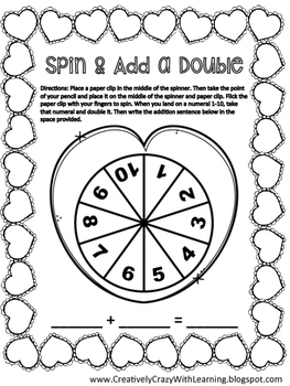 Spin and Add a Double Freebie by Creatively Crazy With Learning