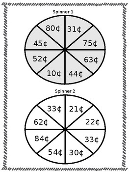 Spin and Add (two digit addition with and without regrouping) ~ EDITABLE