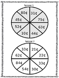 Spin and Add (two digit addition with and without regroupi