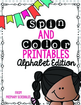 Spin and Color {Alphabet Letter Edition} Printables