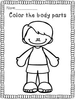 Spin and Color Body Parts game