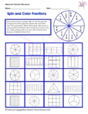 Spin and Color Fractions: Thirds, Sixths, and Ninths Worksheet