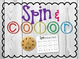 Spin and Color Teen Number Game
