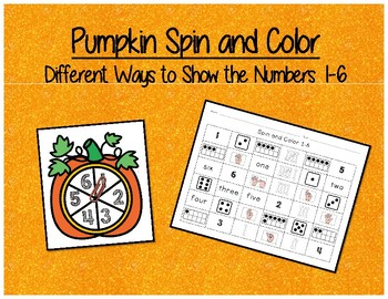 Spin and Color - Ways to show the number 1-6