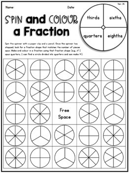 Spin and Colour a Fraction Bingo