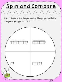 Spin and Compare-Measurement Activity (First Grade, 1.MD.1)