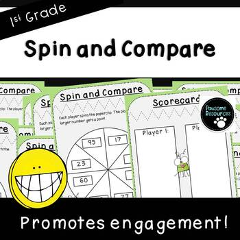 Spin and Compare-Place Value Activity (First Grade, 1.NBT.3)
