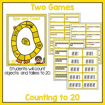 Spin and Count to 20 Easter Math Game