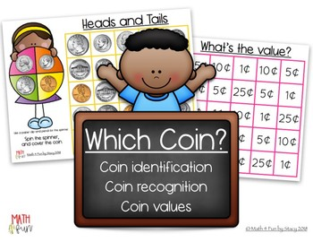 Spin and Cover Coin Recognition, Coin Values, Counting Change