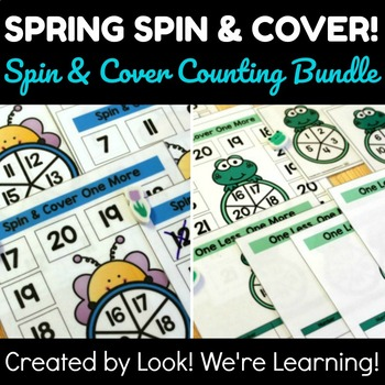 Spin and Cover Counting Lesson Bundle: Spring Spin and Cover!