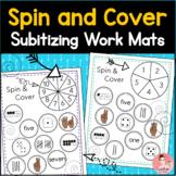 Spin and Cover! Subitizing Work Mats for Kindergarten Number Sense Math Center