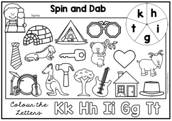 Spin and Dab - Introducing Beginning Sounds.