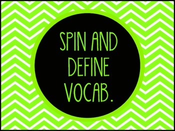 Spin and Define Vocabulary