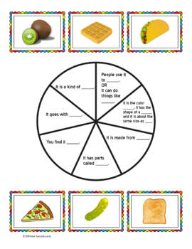 Spin and Describe Foods Using Semantic Features: Speech Therapy