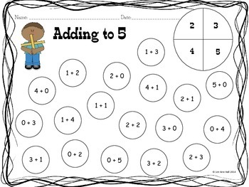 Spin and Dot - Kindergarten Math and Literacy Common Core Activities