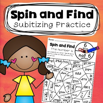 Subitizing Spin and Find-  Cooperative Subitizing Numbers Practice