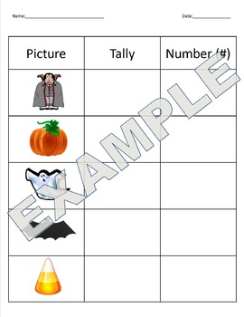 Spin, Tally, and Graph - Halloween