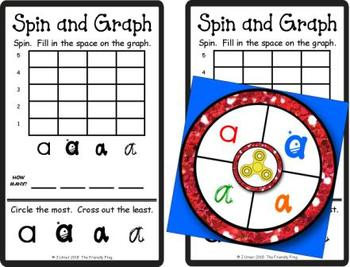 Spin and Graph Lower-case Letter Fonts