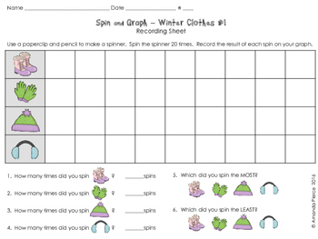 Spin and Graph No Prep - Winter (4 SETS)