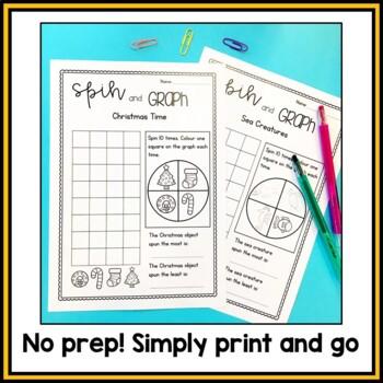 Spin and Graph Worksheets - 20 Fun Topics
