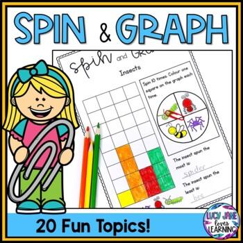 Spin and Graph Activity Interactive Worksheets - 20 Fun Topics