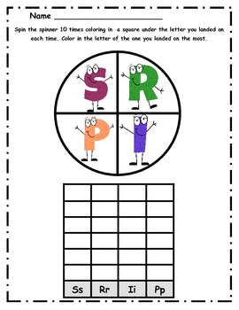 Spin and Graph the Alphabet