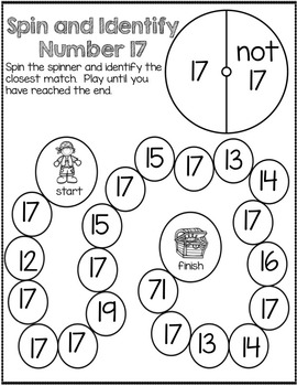 Spin and Identify- Number Recognition to 20