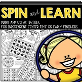 Early Finishers Spin and Learn Games
