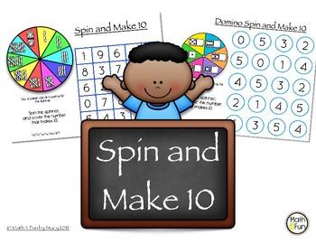 Spin and Make 10  #flashfreebie