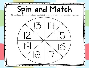 Spin and Match #12-19