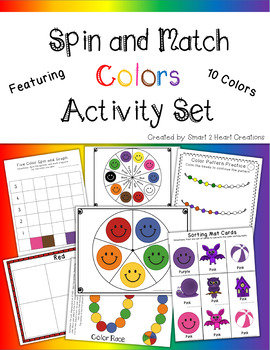 Spin and Match Colors Preschool Activity Set