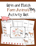 Spin and Match Farm Animal Preschool Activity Set