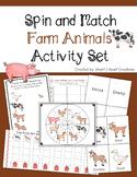 Spin and Match Farm Animal Preschool Activity Set