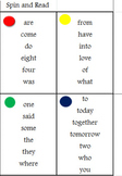 Spin and Read Saxon Phonic Second Grade Sight Word Game