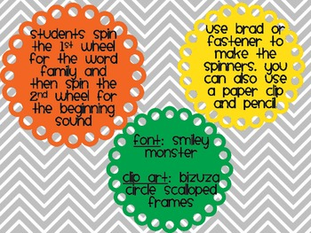 Spin and Read Word Families/CVC words