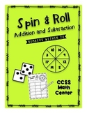 Spin and Roll- Addition and Subtraction- Numbers within 20