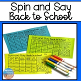 Spin and Say: Back to School