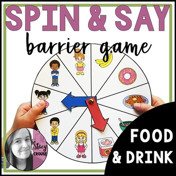Spin and Say Barrier Game: Food and Drink