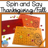 Spin and Say: Thanksgiving/Fall