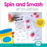 Spin and Smash: Articulation Play Dough Worksheets