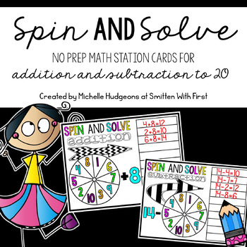 Spin and Solve Addition & Subtraction to 20