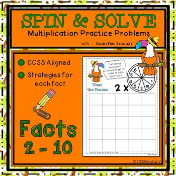 Spin and Solve Multiplication Math Fact Practice