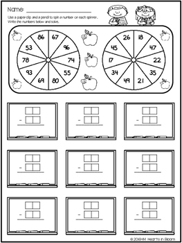 Spin and Solve Worksheets - August Edition (Freebie)