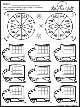 Spin and Solve Worksheets - January Edition (Freebie)